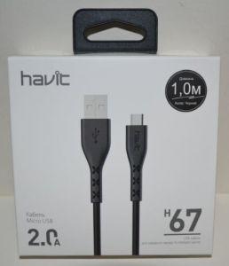 Кабель microUSB Havit HV-H67 2A 1м black
