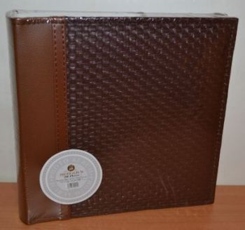 Фотоальбом на 200 фото 10х15 с местом для записей L013 (коричневый)