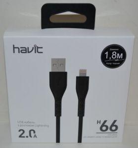 Кабель для iPhone 5 Havit HV-H66 2A 1,8м black