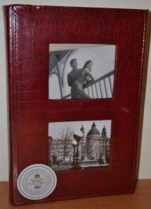 Фотоальбом на 300 фото 10х15 с местом для записей в кожзаме, L082