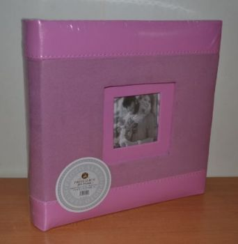 Фотоальбом на 200 фото 10х15 с местом для записей L086 розовый