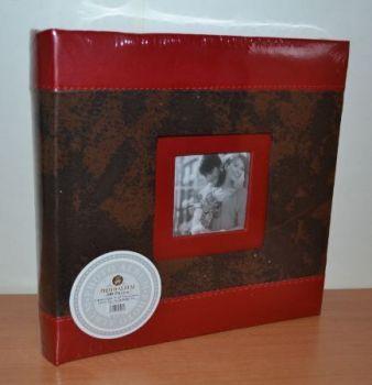 Фотоальбом на 200 фото 10х15 с местом для записей L086 коричневый