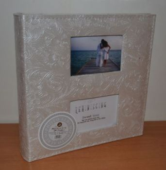 Фотоальбом на 200 фото 10х15 с местом для записей, кожзам, L088