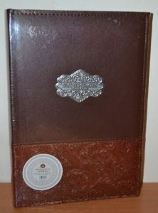 Фотоальбом на 300 фото 10х15 с местом для записей в кожзаме, L091 коричневый