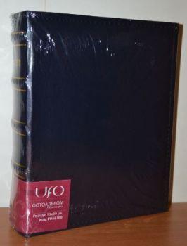 Фотоальбом на 100 фото 15х20 UFO PU-68100, кожзам, темно-синий