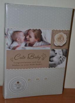 Детский фотоальбом на 300 фото 10х15 с местом для записей в кожзаме, L102-1