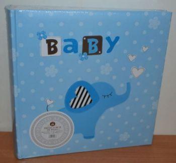 Детский фотоальбом на 200 фото 10х15 с местом для записей, L104 (голубой)