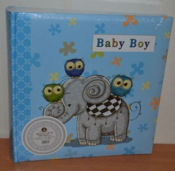 Детский фотоальбом на 200 фото 10х15 с местом для записей, L105 голубой