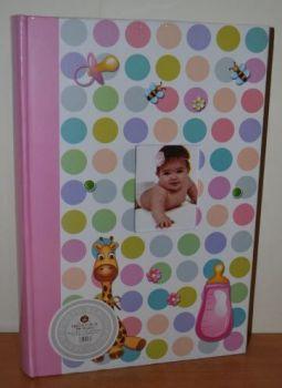 Детский фотоальбом на 300 фото 10х15 с местом для записей L106-1 (розовый)