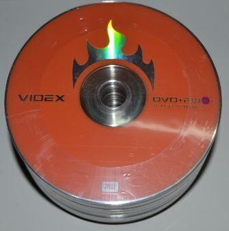 Медиа DVD+RW Videx 4,7Gb 4x Bulk 50 /1/50/