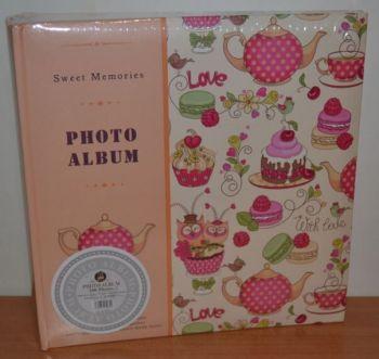 Фотоальбом на 200 фото 10х15 с местом для записей L111 розовый