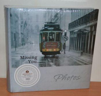 Фотоальбом на 200 фото 10х15 с местом для записей, L113 Трамвай
