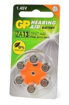Батарейка GP ZA13 (PR48) для слуховых аппаратов /6/60шт.