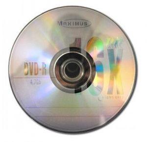 Медиа DVD-R MAXIMUS 4.7Gb 16x Bulk 50 /1/50/600/