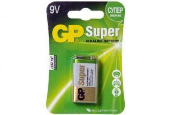 Батарейка GP Super Alkaline 6LR61 блистер 1х1шт /1/10шт.
