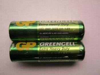 Батарейка GP R-6 (зеленая) коробка 1х2шт /2/40/1000/