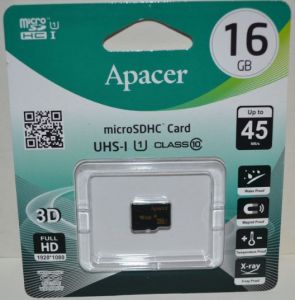 Карта памяти micro-SD 16Gb APACER (Class 10)