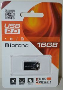 USB флешка 16Gb Mibrand Hawk black
