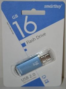 USB флешка 16Gb Smartbuy V-Cut blue