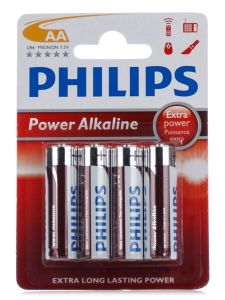 Бат Philips Power Alkaline LR-6 блистер 1х4шт /4/48/