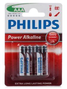 Батарейки Philips Power Alkaline LR-03 блистер 1х4шт /4/48/144/