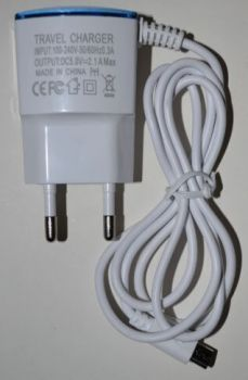 Зарядное устройство microUSB HY-110 цельная 2,1A 1м