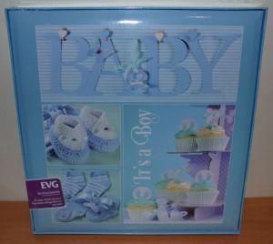 Анкетный фотоальбом самоклейка EVG 20 sheet Baby collage Blue для мальчика