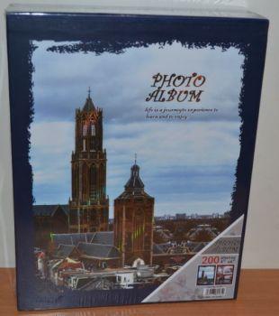Фотоальбом на 200 фото 10х15 в коробке 9165 города-1 с местом для записей