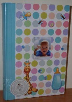 Детский фотоальбом на 300 фото 10х15 с местом для записей L106-1 (голубой)