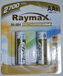 Акк RAYMAX HR-6 2700mAh Ni-MH блистер 1х2шт /2/24/
