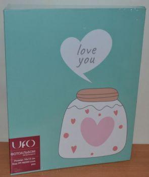 Детский фотоальбом на 200 фото 10х15  UFO Love you