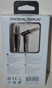 Аудио-кабель 3,5 jack AUX QIHANG QH-M05 black 1,2м
