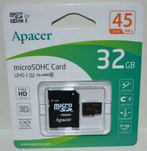 Карта памяти micro-SD 32Gb APACER (Class 10) + SD адаптер