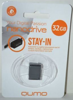 USB флешка 32Gb QUMO Nano black