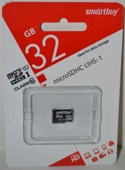 Карта памяти micro-SD 32Gb Smartbuy (Class 10)