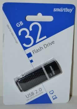 USB флешка 32Gb Smartbuy Quartz-K black
