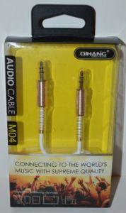 Аудио-кабель 3,5 jack AUX QIHANG QH-M04 white 1м