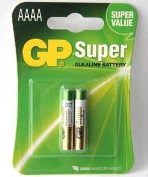 Бат GP Super Alkaline LR-61 (AAAA) блистер 1х2шт