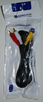 Аудио-кабель 3,5 jack *3RCA (4 pin) тюльпан 1,5м