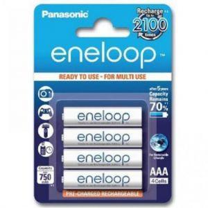 Аккумуляторы PANASONIC Eneloop НR-03 750mAh Ni-MH блистер 1х4шт