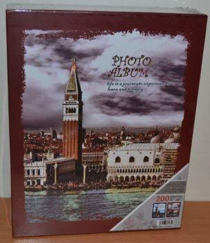 Фотоальбом на 200 фото 10х15 в коробке 9165 города-2 с местом для записей