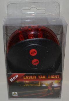 Фонарик вело BL-681 Led+laser 2AAA