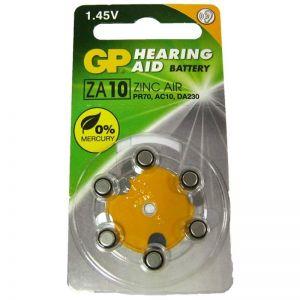 Батарейка GP ZA10 (PR70) для слуховых аппаратов /6/60шт.