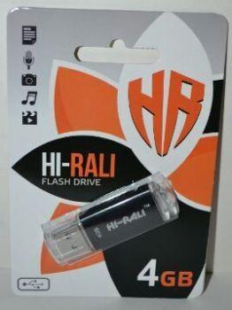 USB флешка 4Gb Hi-Rali Rocket Black