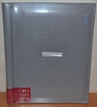 Фотоальбом самоклейка UFO 20 листов 22x32см Grey кожзам