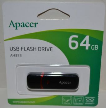 USB флешка 64Gb APACER AH333 black