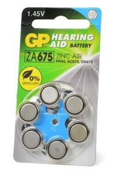 Батарейка GP ZA675 (PR44) для слуховых аппаратов /6/60шт.