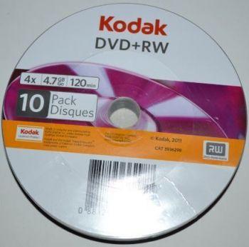 Медиа DVD+RW KODAK 4,7Gb 4x Bulk 10 /10/