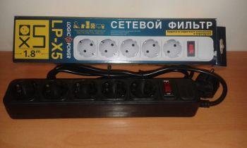 Сетевой фильтр LogicPower LP-X5 5 розеток 1,8m black /1/