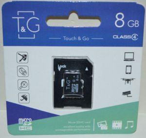 Карта памяти micro-SD 8Gb T&G (Class 4) + SD адаптер